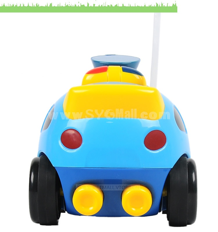 RC Romote Cute Cartoon Police Car Model Car Toy with Sound and Light Effect