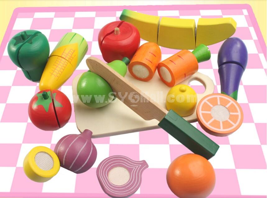 Wood Fruit Cutting Toy Kitchen Toy
