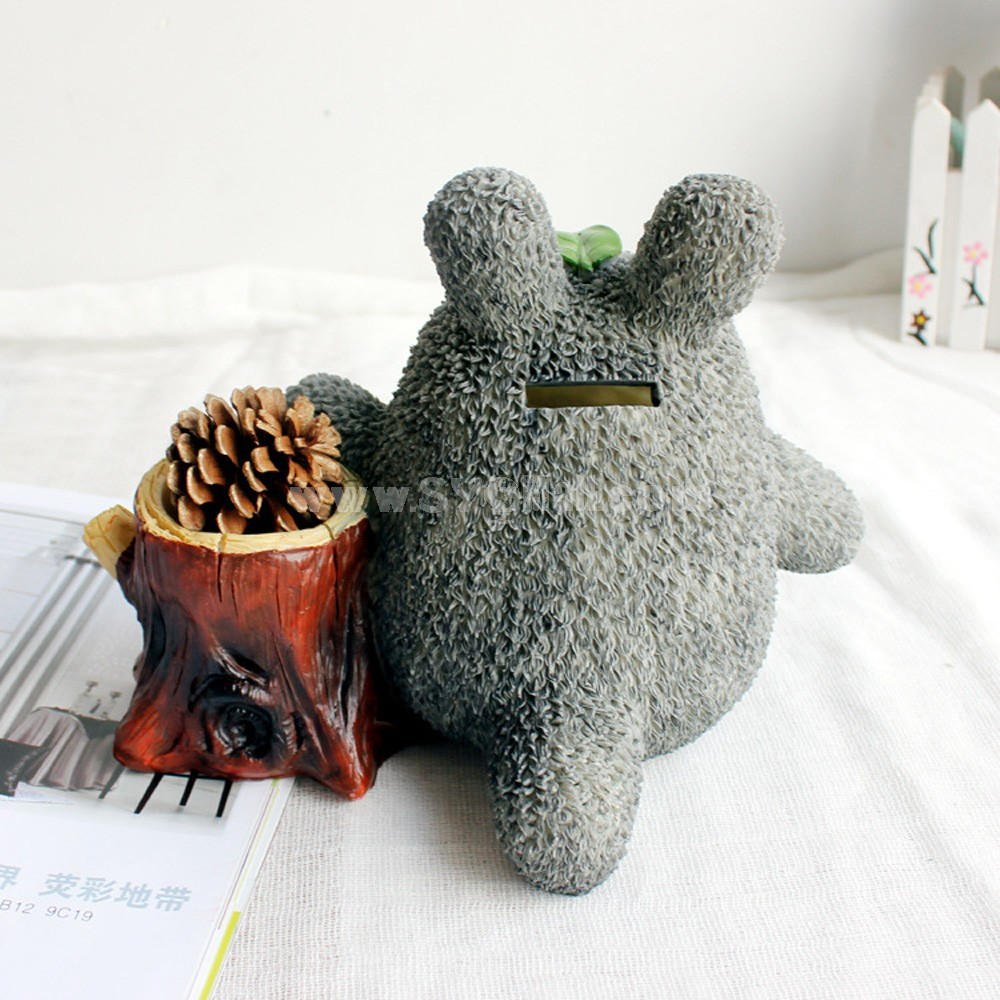 Totoro Figure Toy Piggy Bank Money Box 235 -- Stump