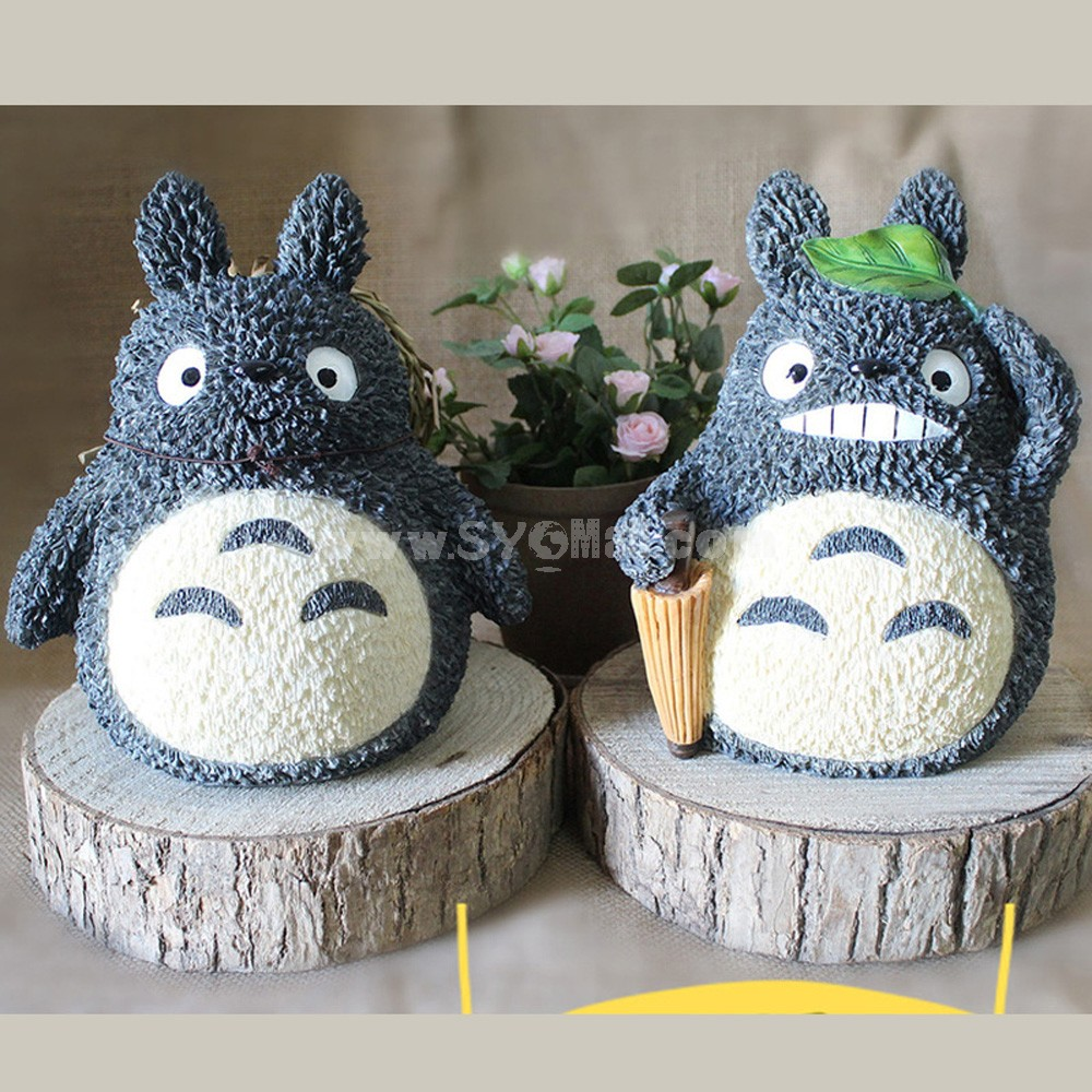 Totoro Figure Toy Piggy Bank Money Box ZH173-9 Straw hat/Umbrella 20cm/7.9inch