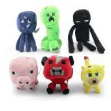 Wholesale - Minecraft Figures Plush Toys Stuffed Animals Creeper Enderman Mooshroom 6pcs/Lot 18cm/7inch