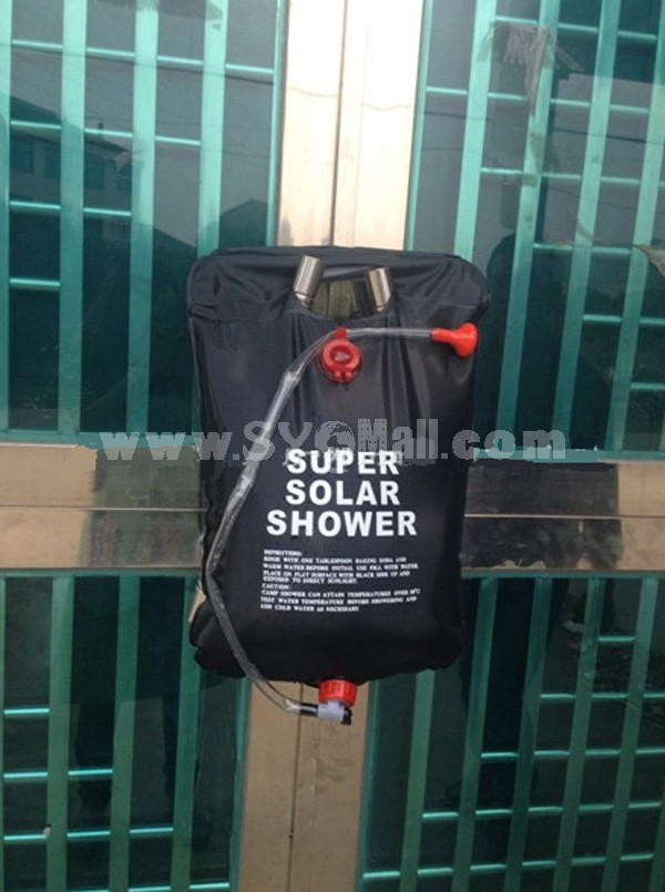 Outdoor Super Solar Shower Bag Water Bag for Camping 20L/5 Gallons
