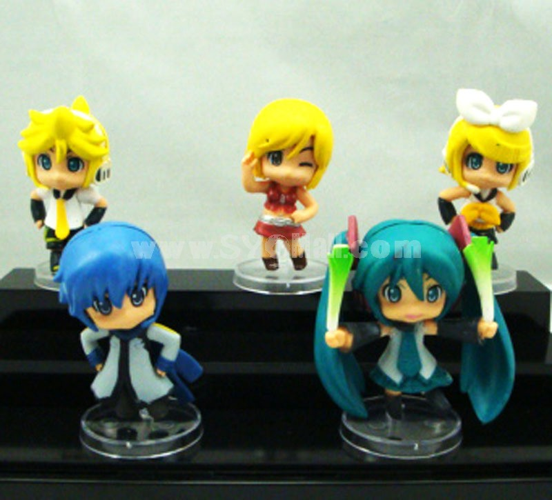 Hatsune Miku Figure Toys with Standing Board 5pcs/Lot 6cm/2.4inch
