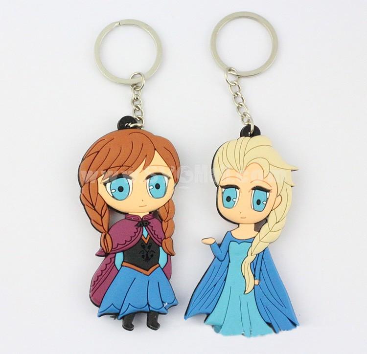 Frozen Princess Figure Toys Key Chains 2.0-3.0inch 4pcs/Lot