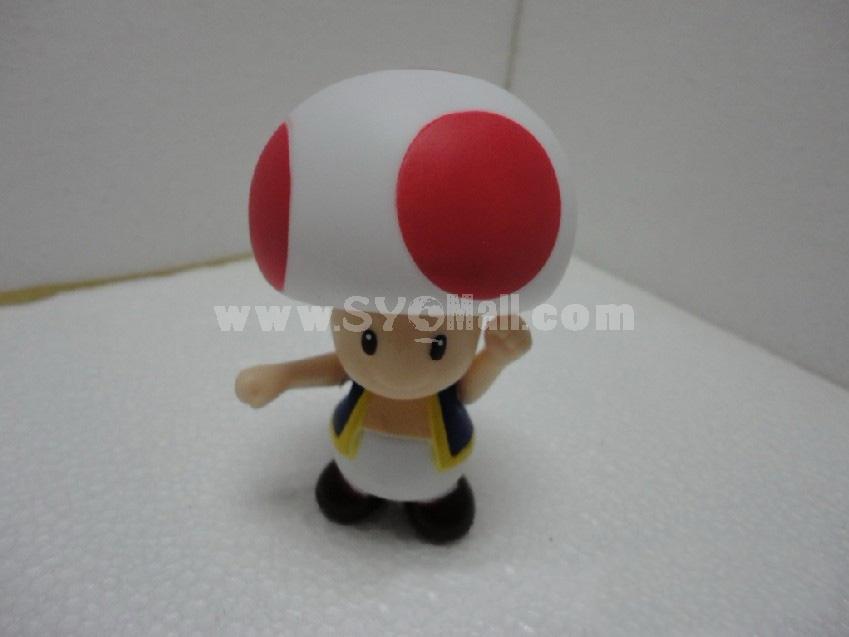 Super Mario Mushroom Figure Toys 9cm/3.5inch -- Red