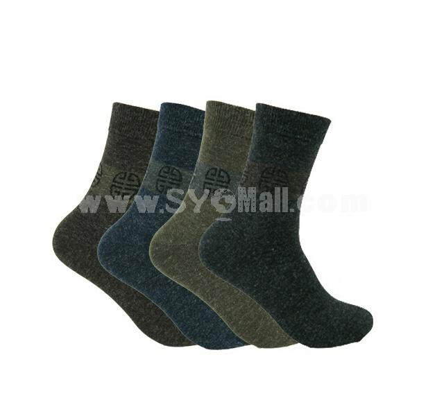 Man Winter Thick Wool Socks Formal Socks 5 Pairs/Lot