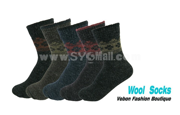 Woman Winter Thick Wool Socks 5 Pairs/Lot