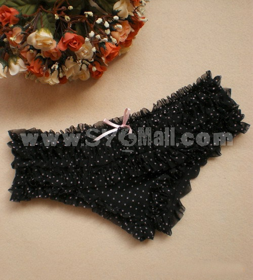 Lady Sexy Lace Polka Underpants Panties T009
