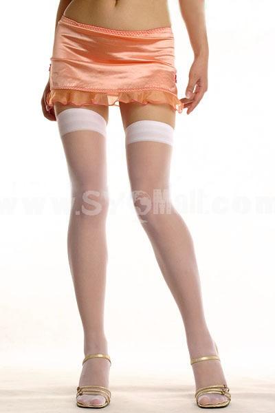 Lady Sexy Stockings Thig Hights Black&White Silk Stockings 2 Pairs/Lot 7447