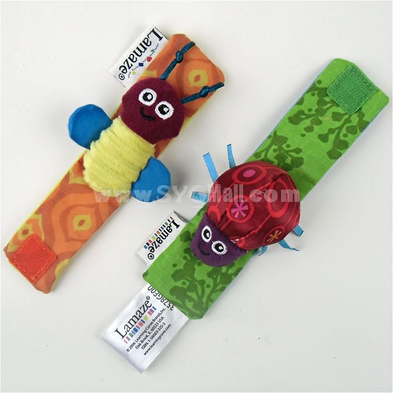 Lamaze Garden Bug Wrist Rattle Baby Cloth Watch 002 1 Pair/Lot