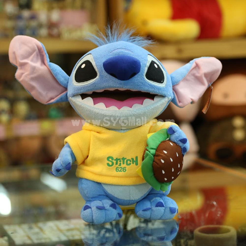 Stitch Plush Toy 37cm/14.5inch -- Hamburger