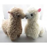 Wholesale - 2pcs Cute Alpaca Plush Toy Camel Cream Llama Stuffed Animal Kids Doll 23cm Height