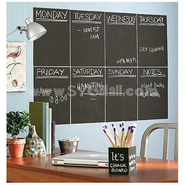 PVC Blackboard Sticker Doodle Board