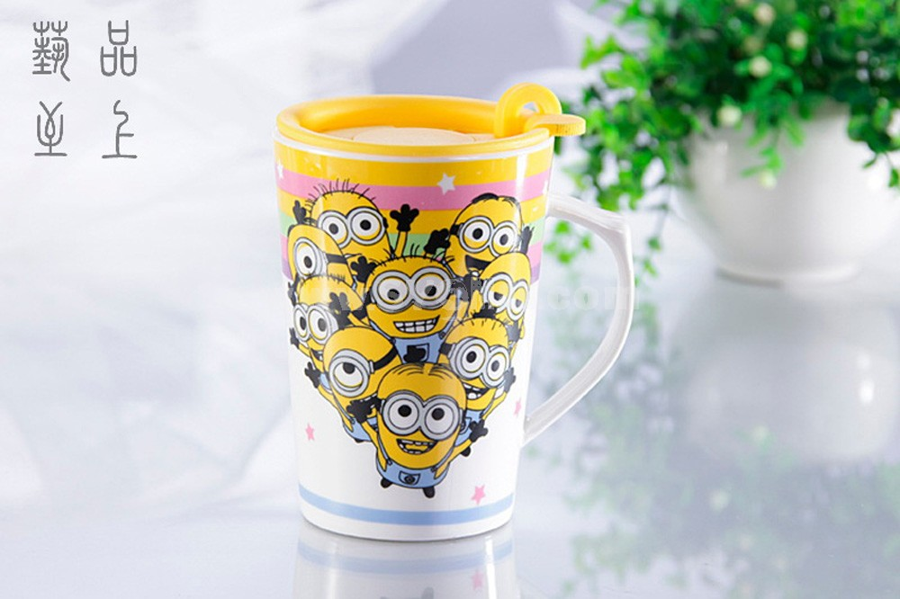 The Minions Despicable Me 2 Ceramic Cup Mug with Cover