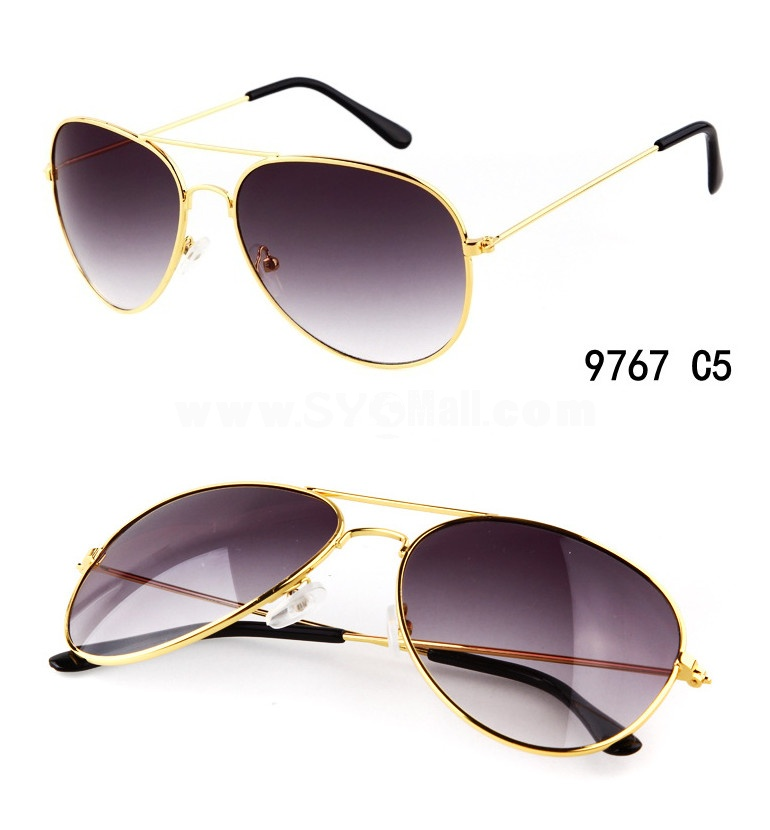 Retro Mirror Aviator Sunglasses with Spectacle Case 9767