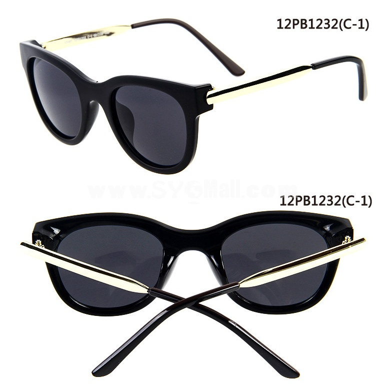 Women's Wayfarer Style Sunglasses with Spectacle Case 1232 Round Frame