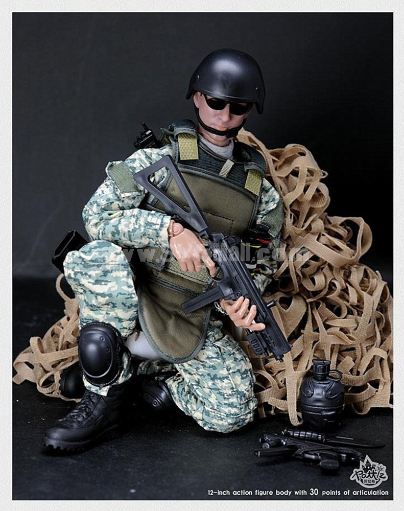"""1:6 Camo Soldier Model Military Model Figure Toy with 30 Points of Articulation 12"""""""