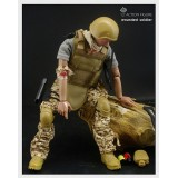 """Wholesale - 1:6 Soldier Model Military Model Figure Toy Wounded Soldier 12"""""""