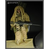 wholesale - 1:6 Soldier Model Military Model Figure Toy Desert Sniper 12""