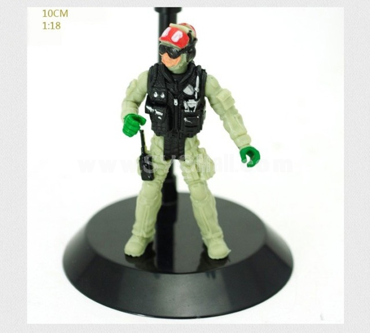 "1:18 Soldier Model Military Model Figure Toy 4"" Carrier Agent"