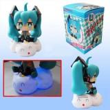 "Wholesale - Hatsune Miku Figures Toy Piggy Bank with Light Effect 17cm/6.7"""