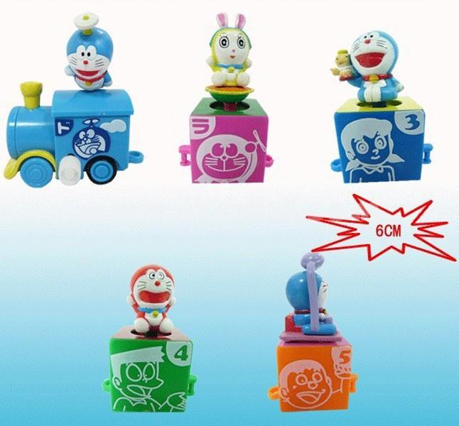 "Train Doraemon Figures Toys Set 6cm/2.4"" 5pcs/Kit"