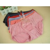 Wholesale - Lady Middle Waist Solid Color Emboidery Underwear (9971K)