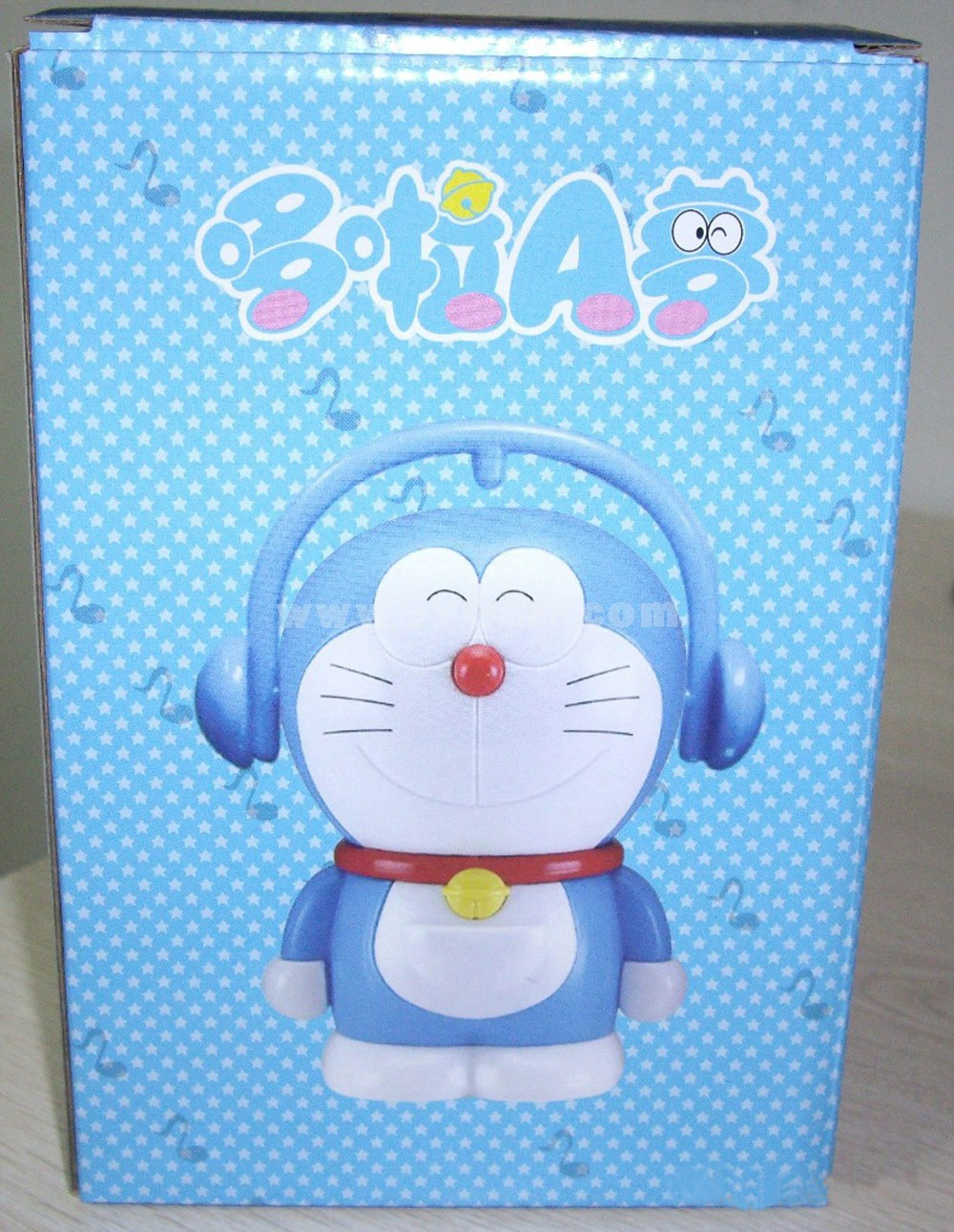"Music Doraemon Figure Toys Piggy Bank 15cm/5.9"" -- Smiling"
