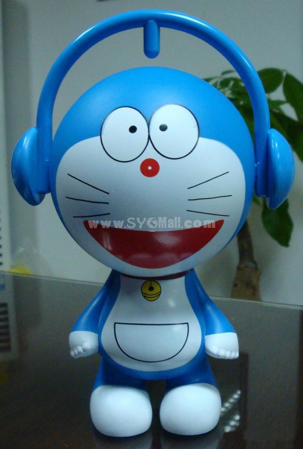 """Music Doraemon Figure Toys Piggy Bank 15cm/5.9"""" -- Big Mouth"""