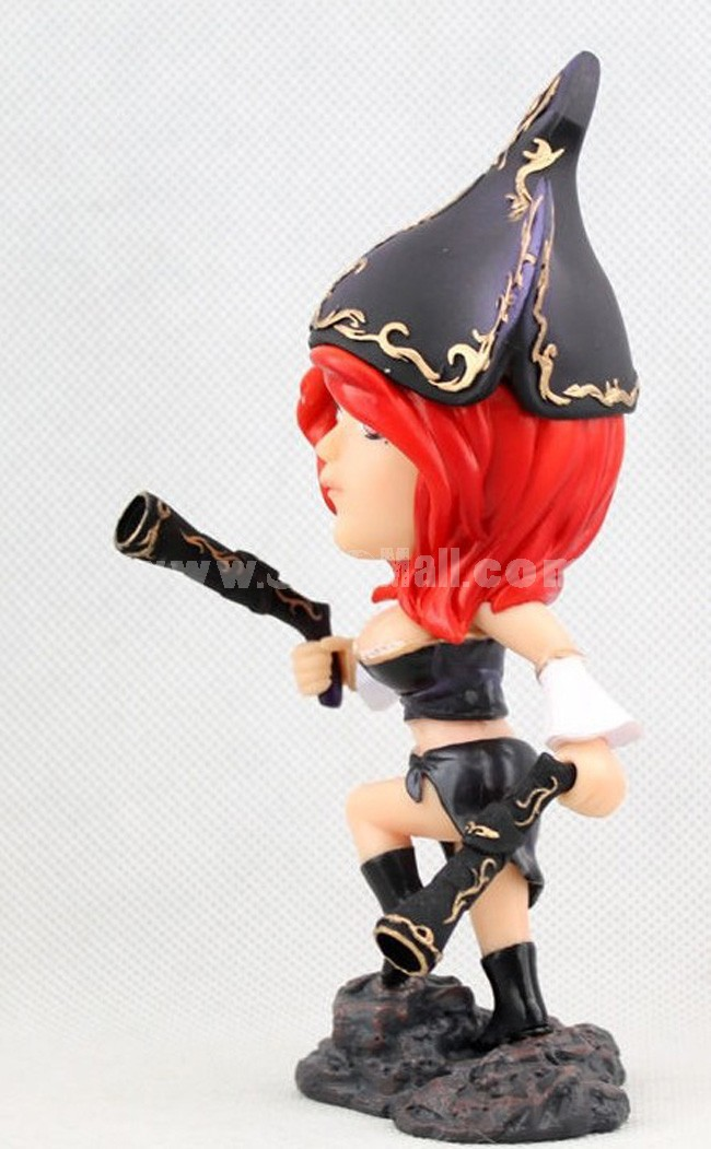 """League of Legends The Bounty Hunter Miss Fortune Figure Toy 16cm/6.3"""""""
