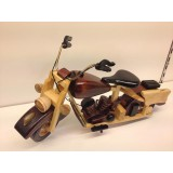 Wholesale - Handmade Wooden Decorative Home Accessory Vintage Motorcycle Classic Motorcycle Model 1002