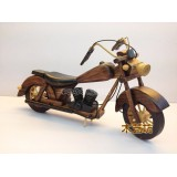 Wholesale - Handmade Wooden Decorative Home Accessory Vintage Motorcycle Classic Motorcycle Model 1004