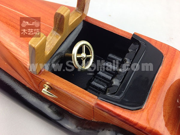 Handmade Wooden Decorative Home Accessory with Metal Decoration Vintage Car Classic Car Model 2008