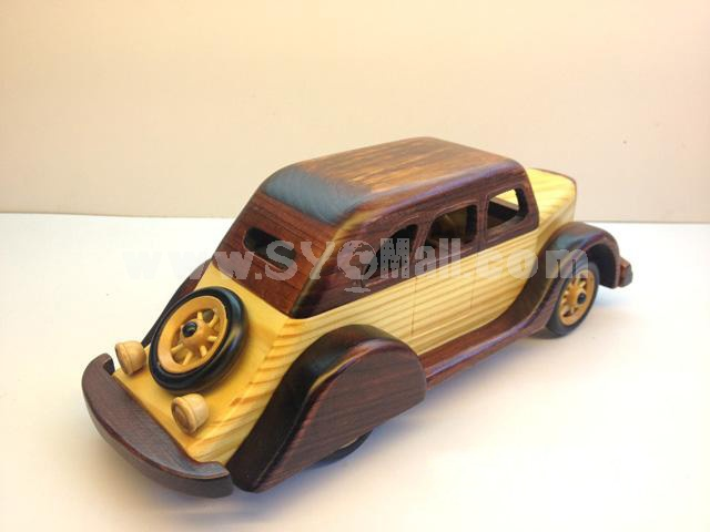 Handmade Wooden Decorative Home Accessory Vintage Car Classic Car Model 2014