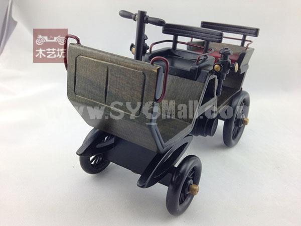 Handmade Wooden Decorative Home Accessory 2nd Generation Car Vintage Car Classic Car Model 2017