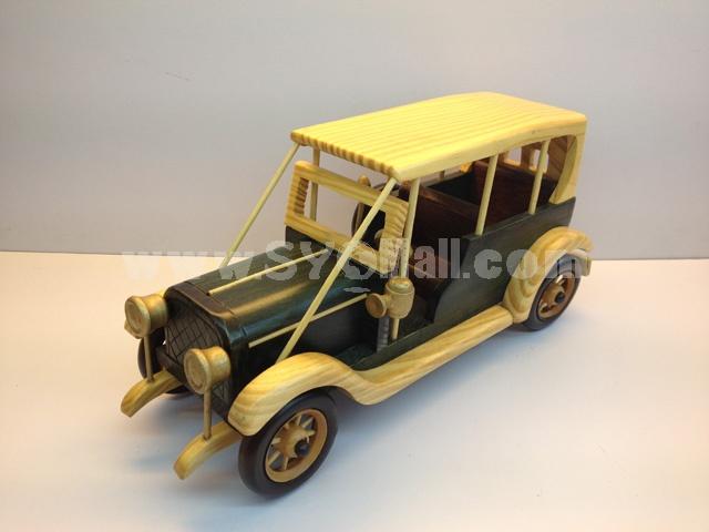 Handmade Wooden Decorative Home Accessory Vintage Car Classic Car Model 2018