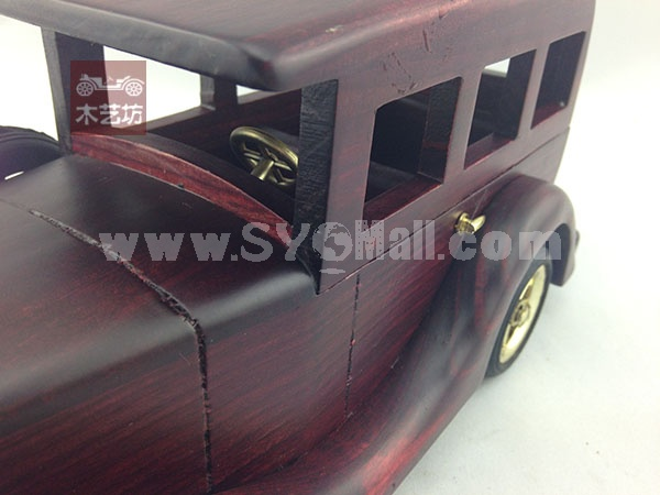 Handmade Wooden Decorative Home Accessory Red Car Vintage Car Classic Car Model 2019