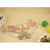Wholesale - Lady Cotton Solid Color Emboidery Underwear (9918K)