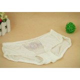 Wholesale - Lady Cotton Solid Color Emboidery Underwear (2622K)