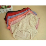 Wholesale - Lady Cotton Solid Color Emboidery Underwear (3360K)