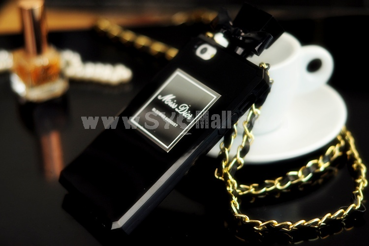 MD Perfume Bottle Design Cellphone Case with Chain Protective Cover for iPhone4/4s