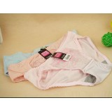 Wholesale - Lady Cotton Solid Color Emboidery Underwear (3810K)