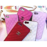 wholesale - Double C Classic Leather Cellphone Case Protective Cover for iPhone4/4s