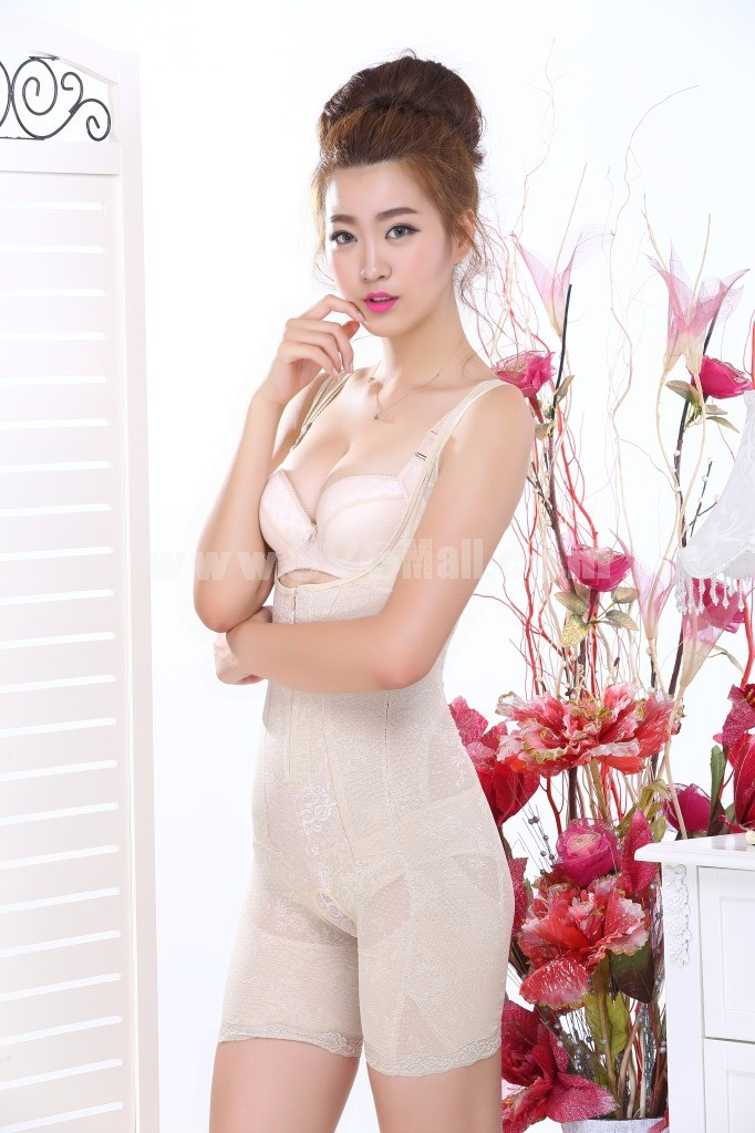 Summer Thin Silk Tummy Control Magnetic Therapy Shapewear Corset 6812