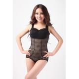 Wholesale - Lady Thin Tummy Control Breast Shaping Black Shapewear Corset 8018