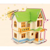 Wholesale - DIY Wooden 3D Jigsaw Puzzle Model Colorful House F402