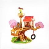 Wholesale - DIY Wooden 3D Jigsaw Puzzle Model Colorful House F110