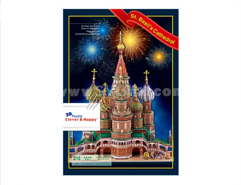 Cleve & Happy 3D Puzzle St. Basil's Cathedral 210 pcs