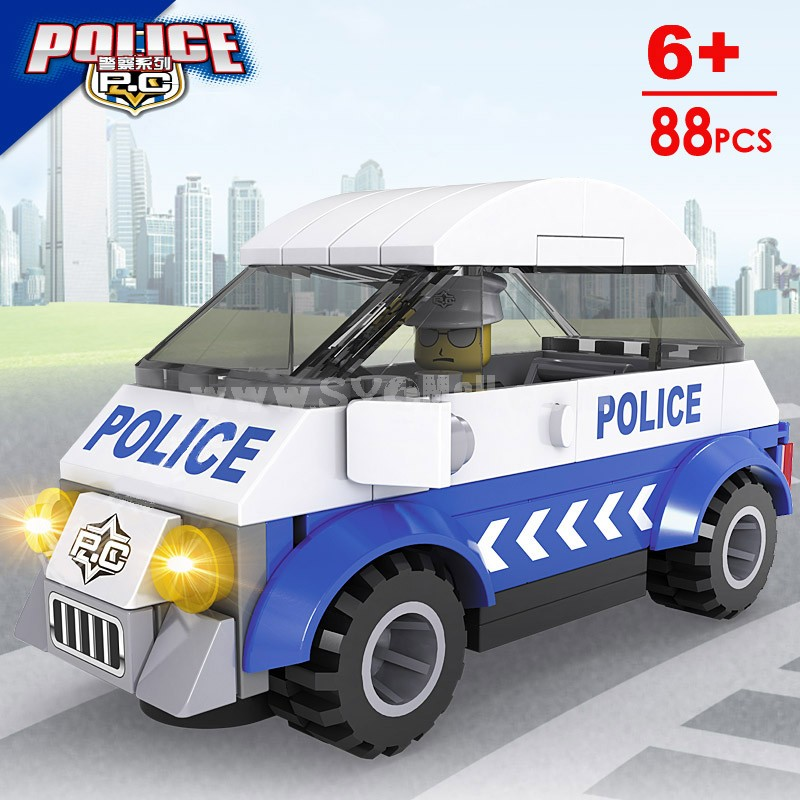 Police Story Buliding Blocks Compatible with Lego 6 Patterns