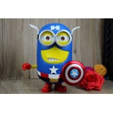 Wholesale - Captain American Minions Despicable Me Figure Toy 20cm/7.9inch